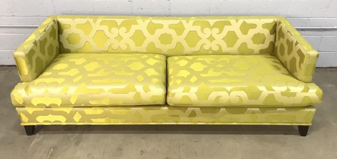 Art Deco Style French Silk Taffeta Designer Sofa - 10