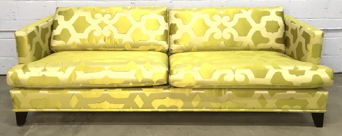 Art Deco Style French Silk Taffeta Designer Sofa