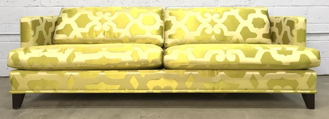 Art Deco Style French Silk Taffeta Designer Sofa - 2