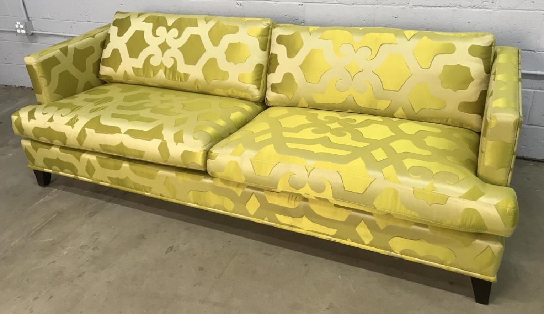 Art Deco Style French Silk Taffeta Designer Sofa - 3