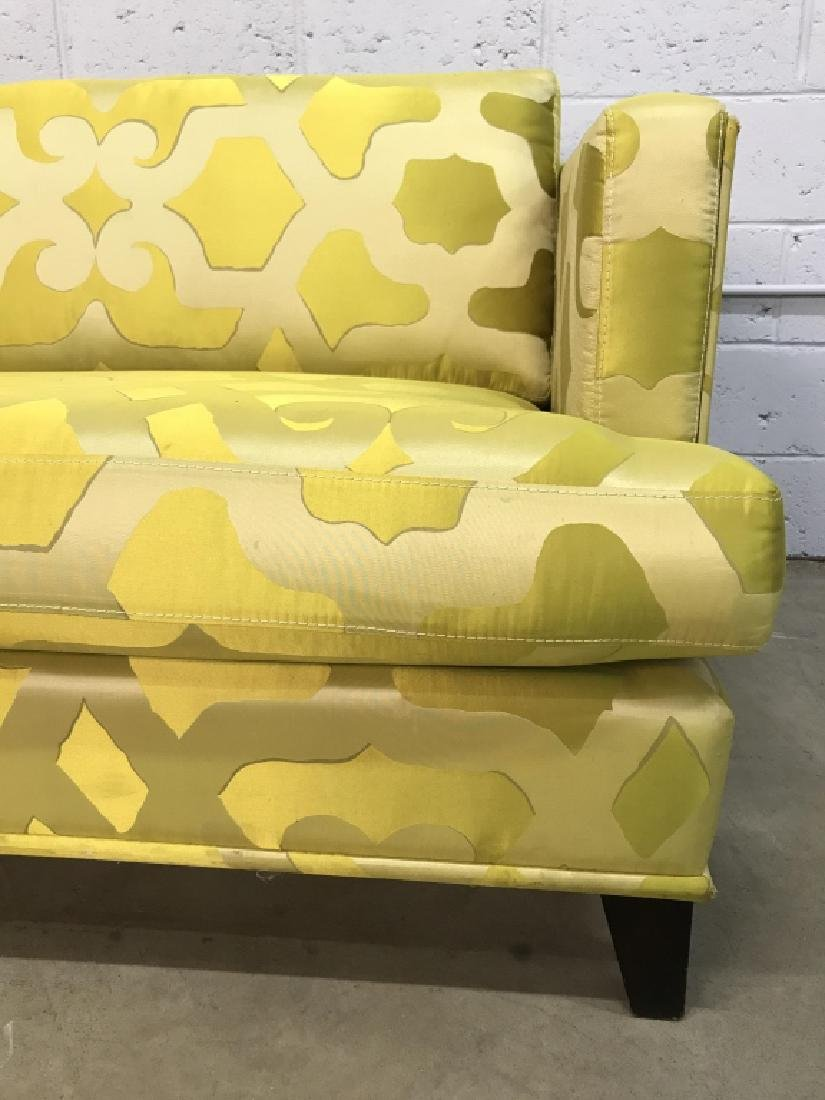 Art Deco Style French Silk Taffeta Designer Sofa - 4