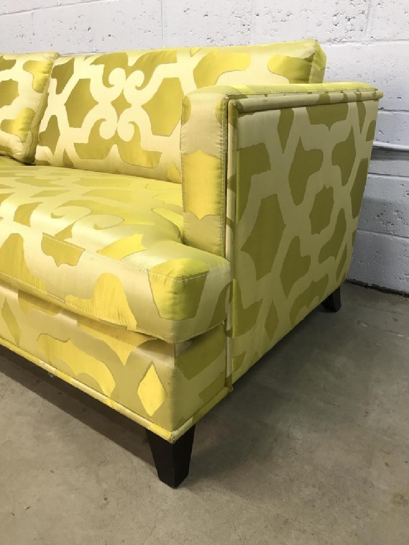 Art Deco Style French Silk Taffeta Designer Sofa - 5