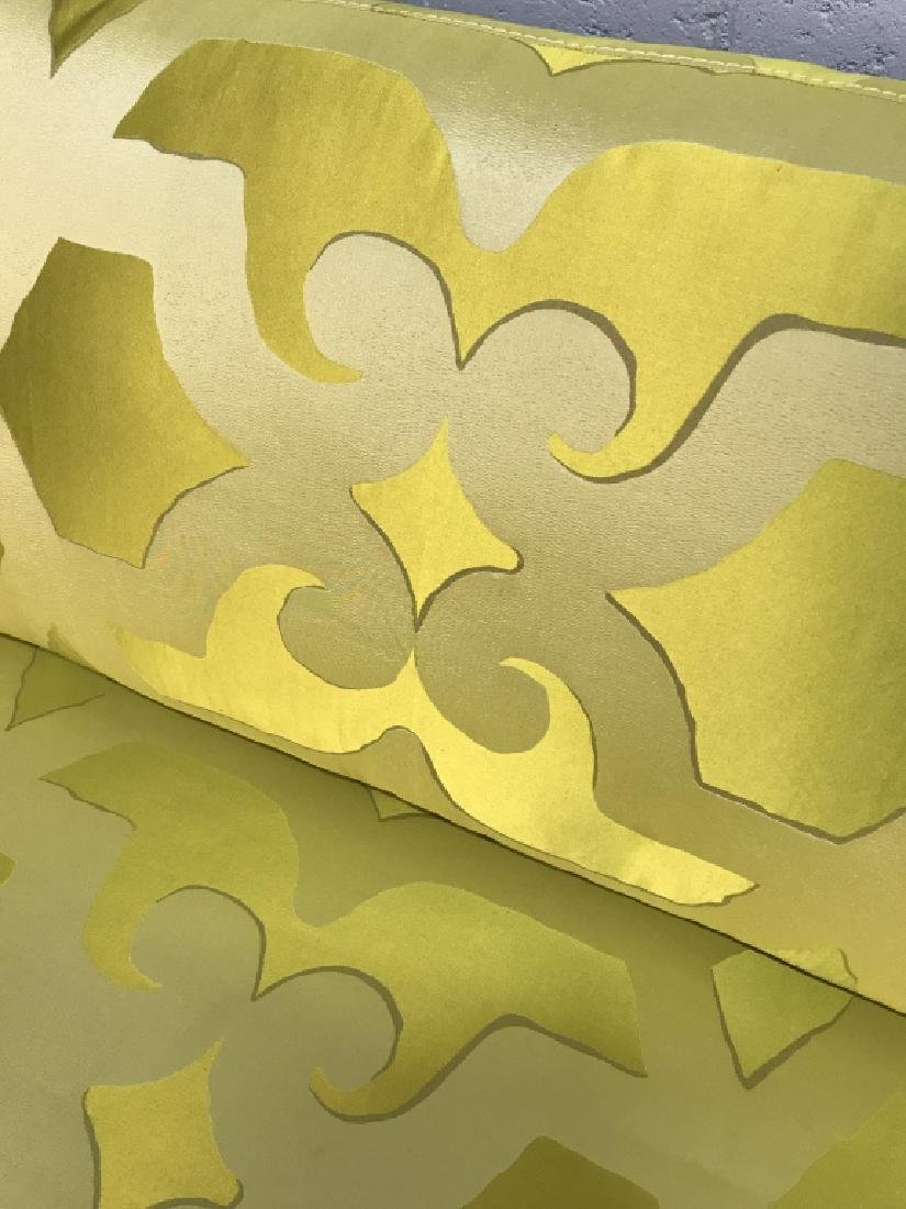 Art Deco Style French Silk Taffeta Designer Sofa - 6