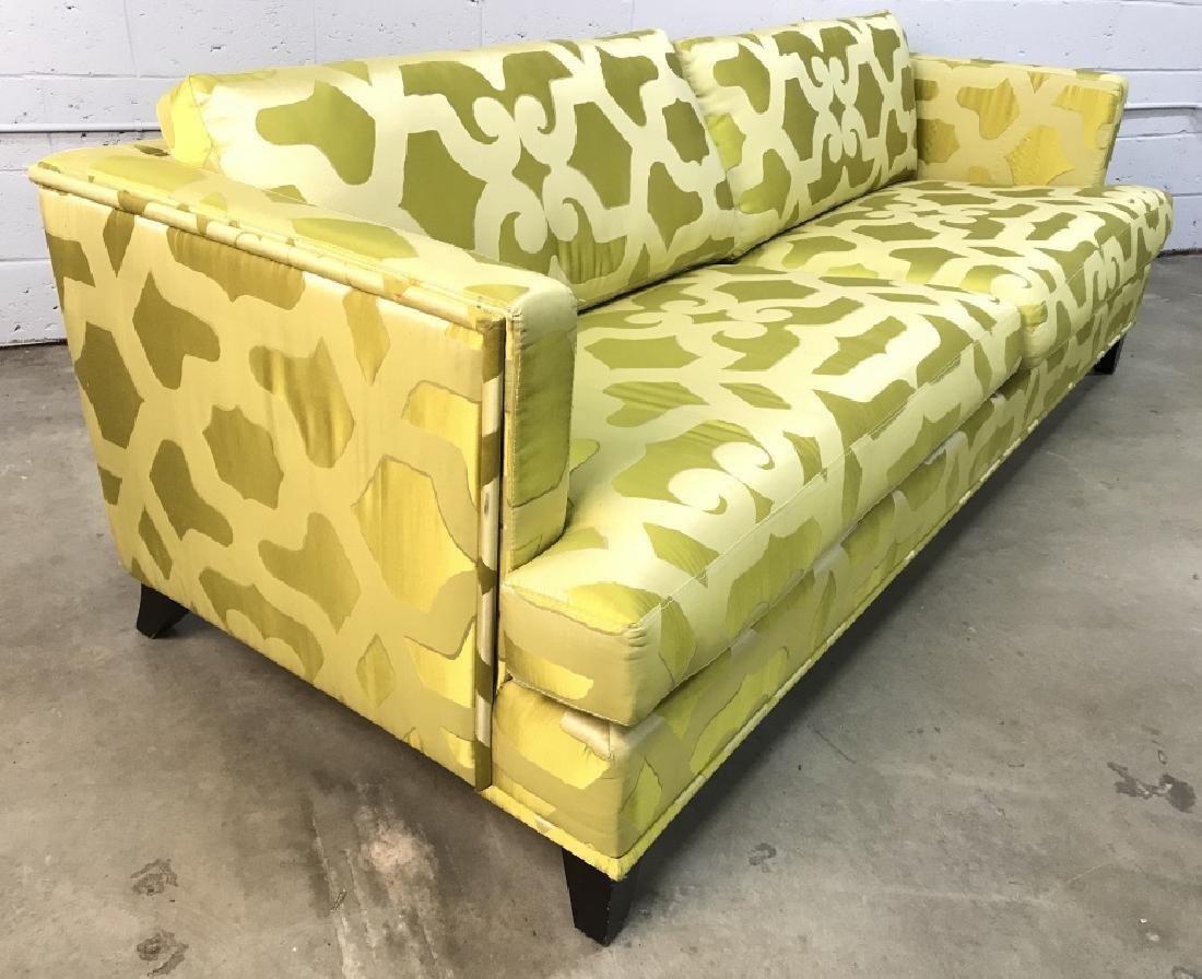 Art Deco Style French Silk Taffeta Designer Sofa - 7