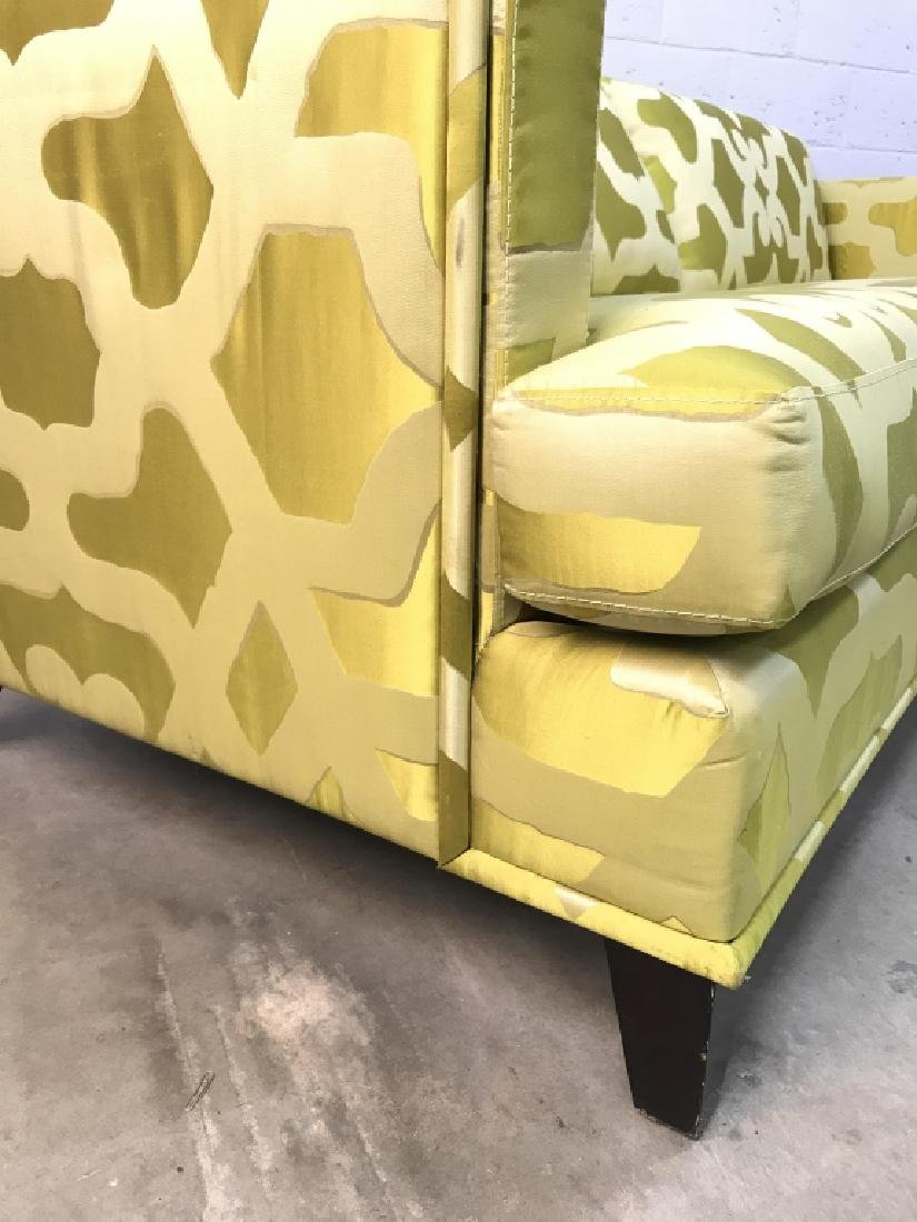 Art Deco Style French Silk Taffeta Designer Sofa - 8
