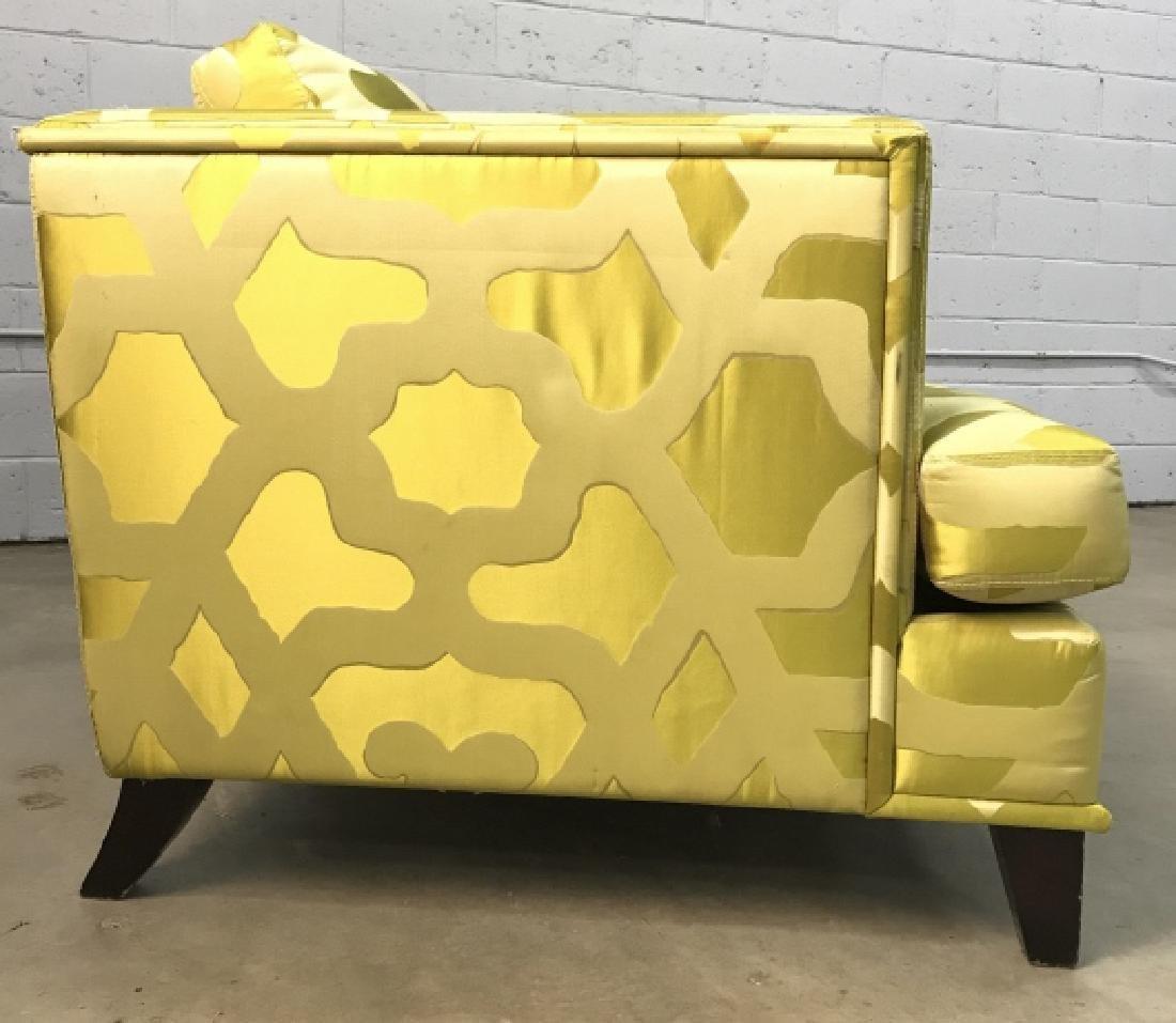 Art Deco Style French Silk Taffeta Designer Sofa - 9