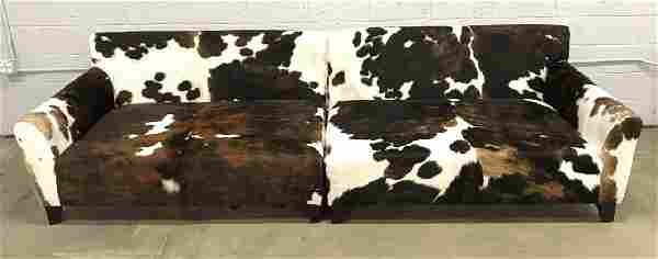 Set 2 One Of A Kind Argentinian Cowhide Sofas