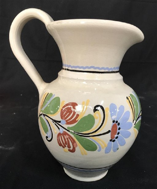 Signed Painted Ceramic Pottery Pitcher - Feb 06, 2019   The Benefit