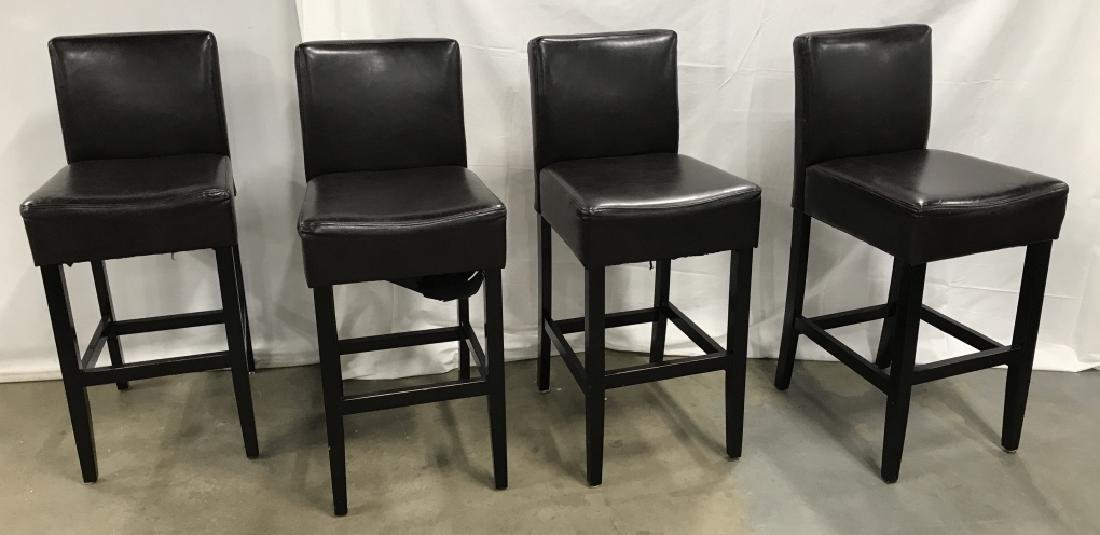 Set 4 Bar Stools Counter Stools