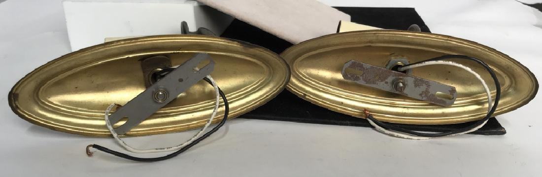 Vintage Pair Brass Toned Wall Sconces - 6