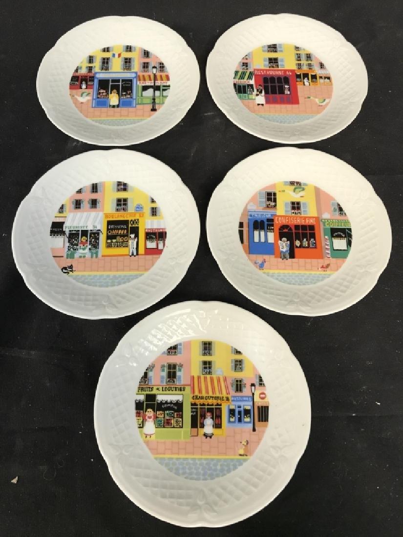 Lot 5 PH DESHOULIERES LIMOGES Porcelain Plates