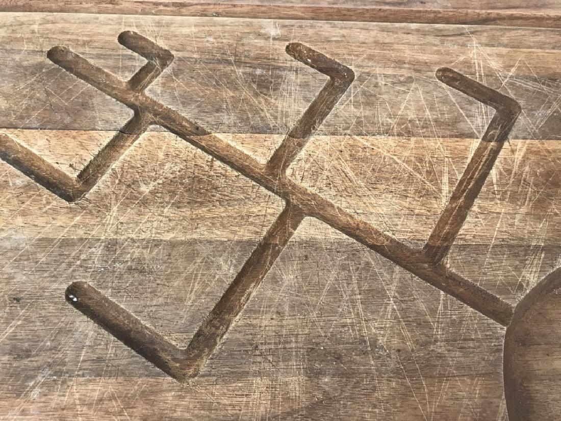 Rustic Wooden Platter Tray W Longhorn Head Handles - 5