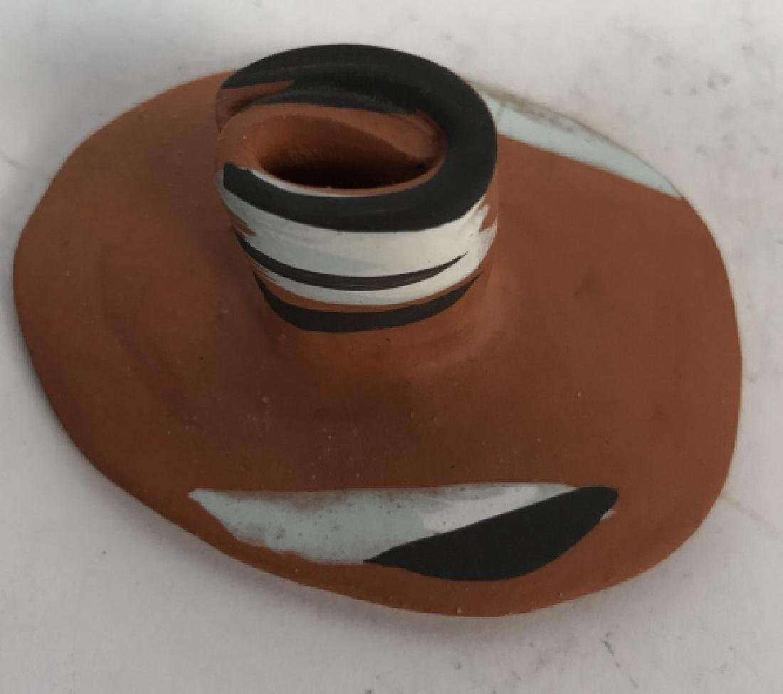 Signed Handmade Pottery Container Dish - 7