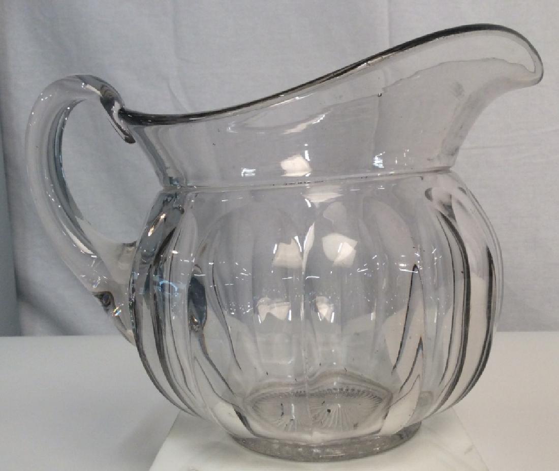 Vintage Glass Pitcher, Signed