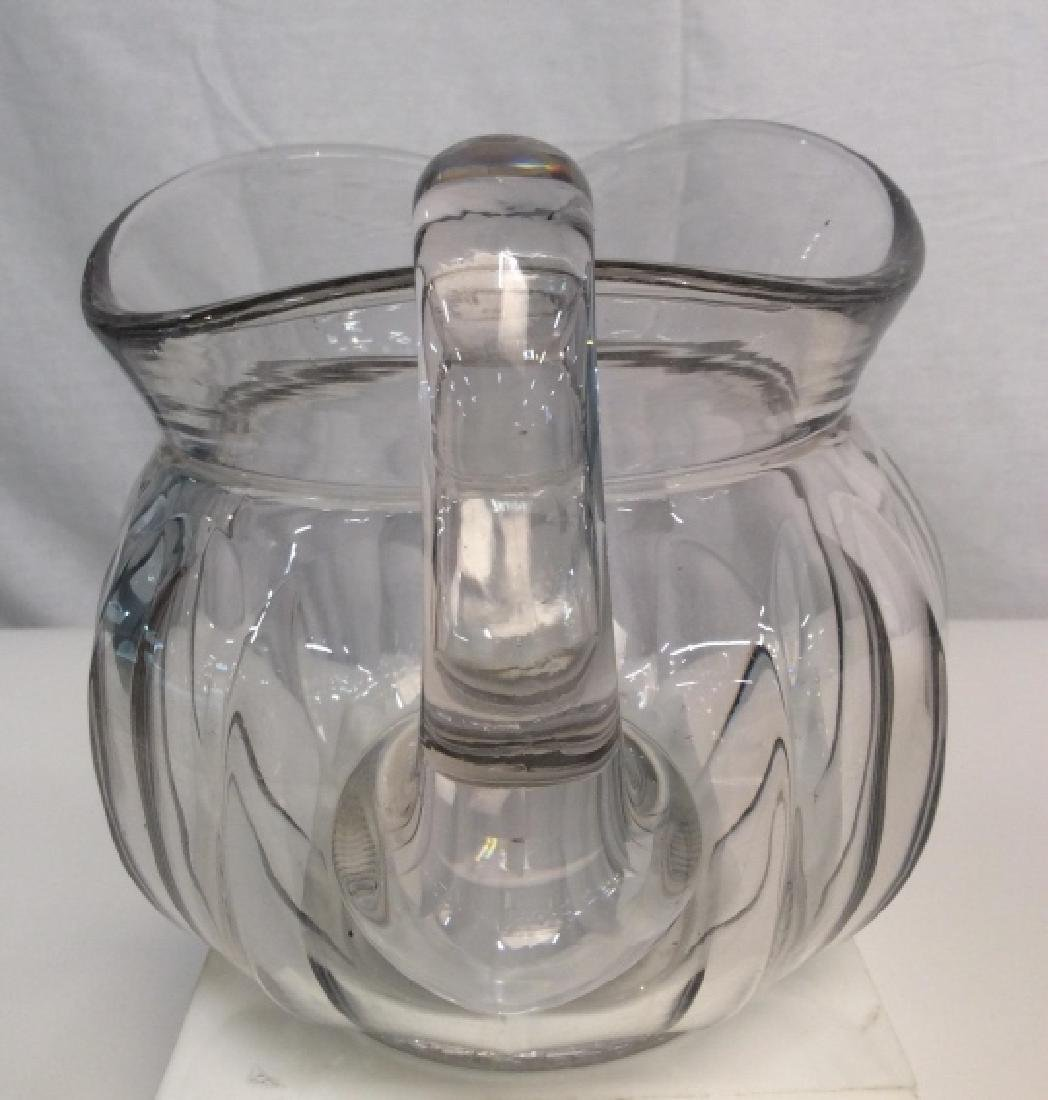 Vintage Glass Pitcher, Signed - 3