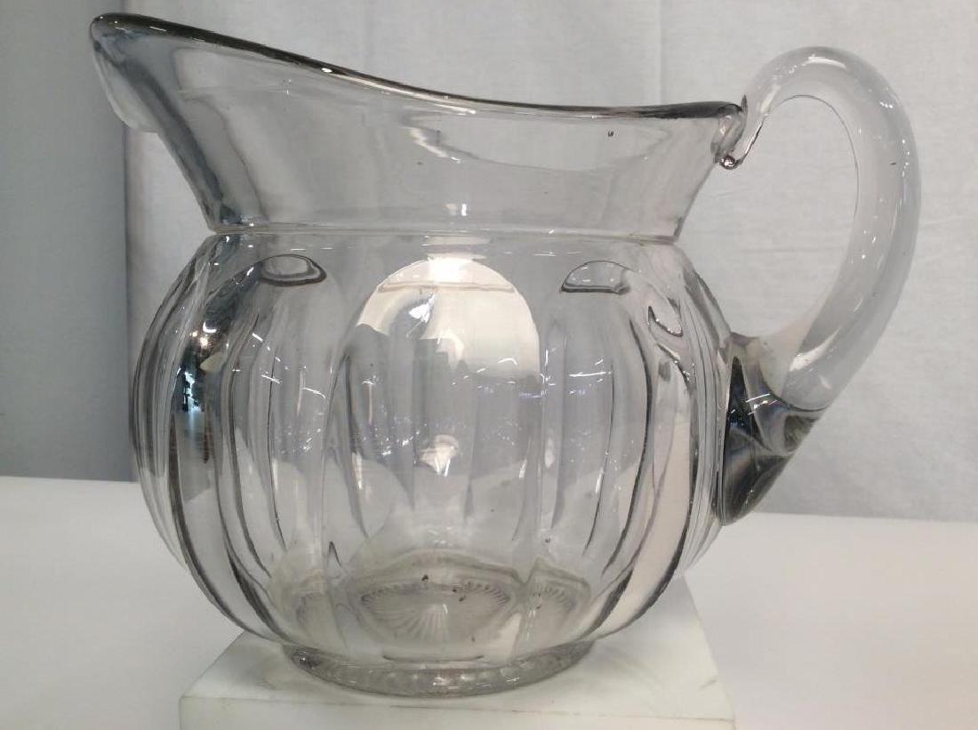 Vintage Glass Pitcher, Signed - 4