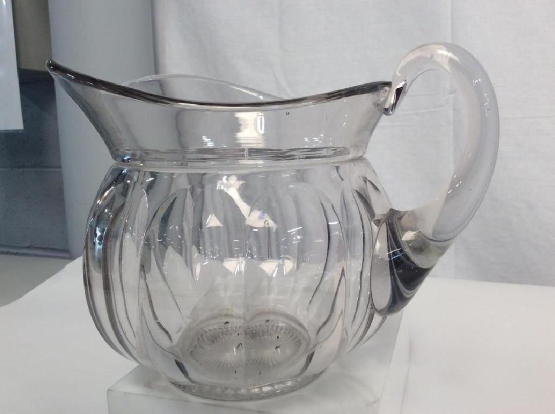 Vintage Glass Pitcher, Signed - 5
