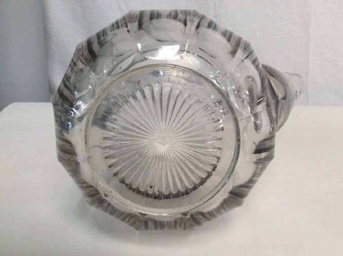 Vintage Glass Pitcher, Signed - 6