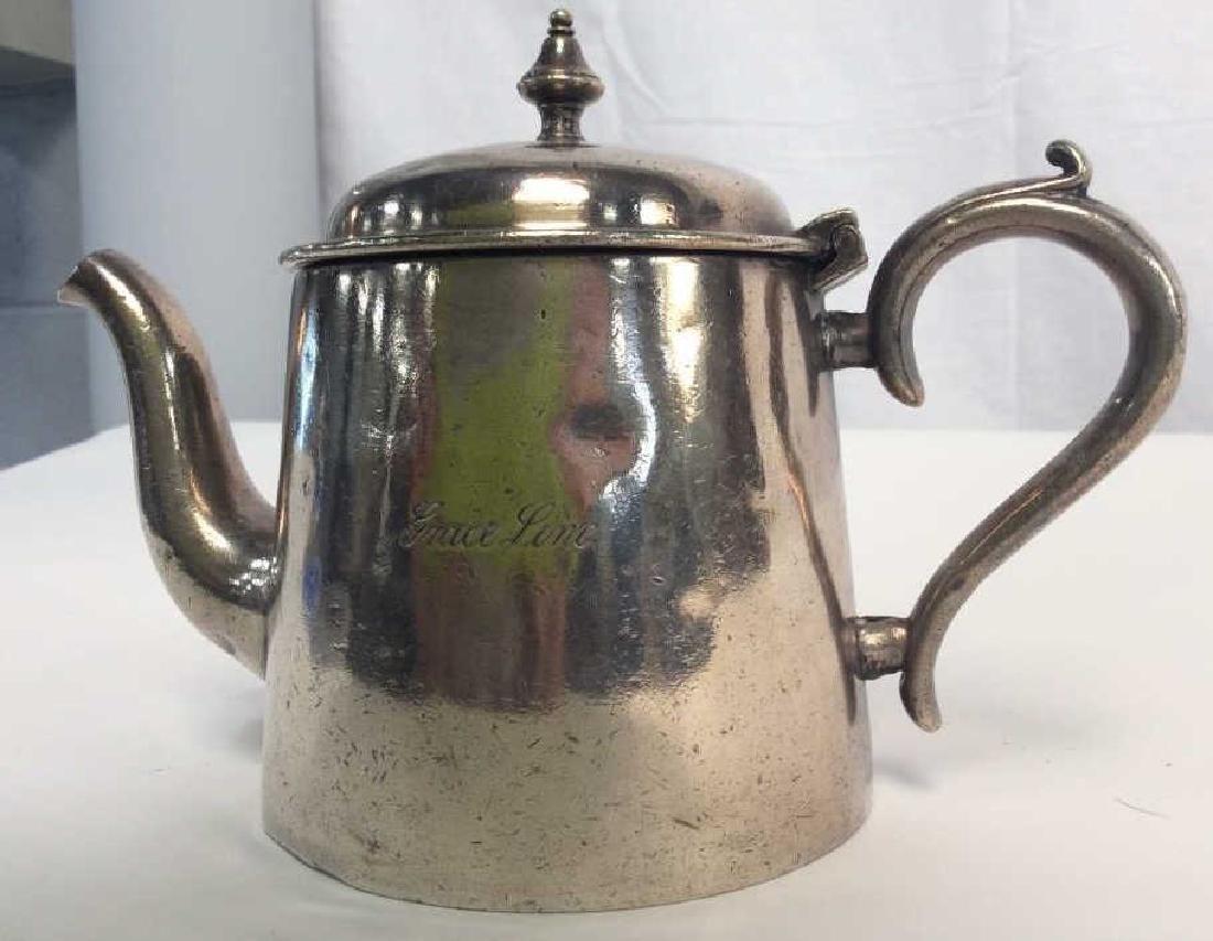 Vintage Silver Plated Tea Pot, Grace Line