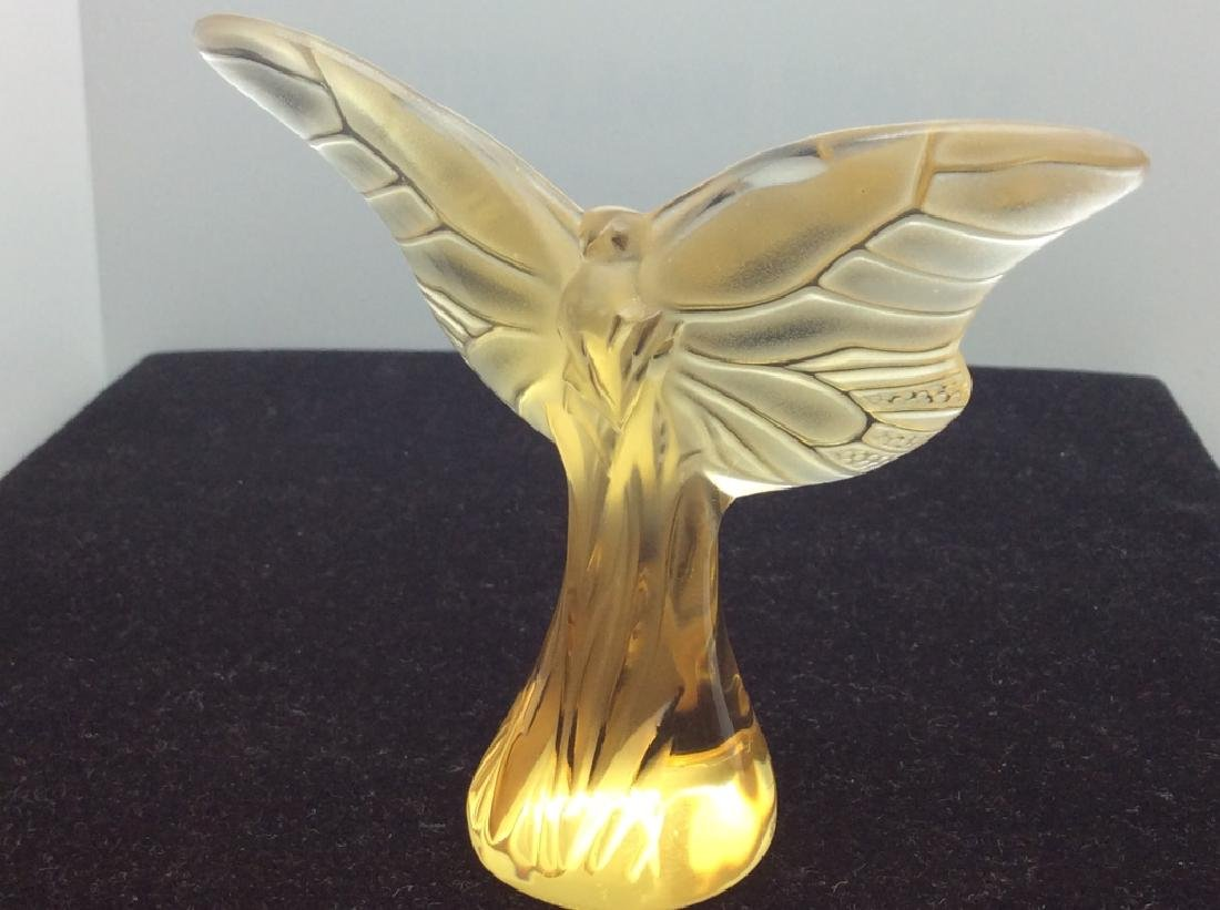 Lalique French Art Glass Butterfly Figural - 5