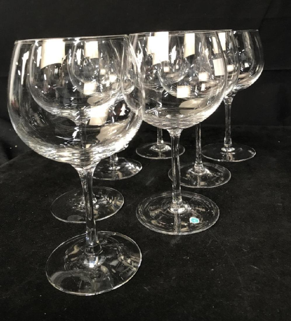 Tiffany Crystal Red Wine 8 Glasses, signed