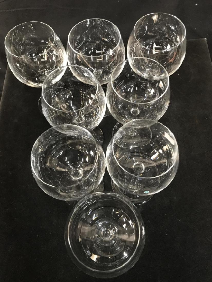 Tiffany Crystal Red Wine 8 Glasses, signed - 2