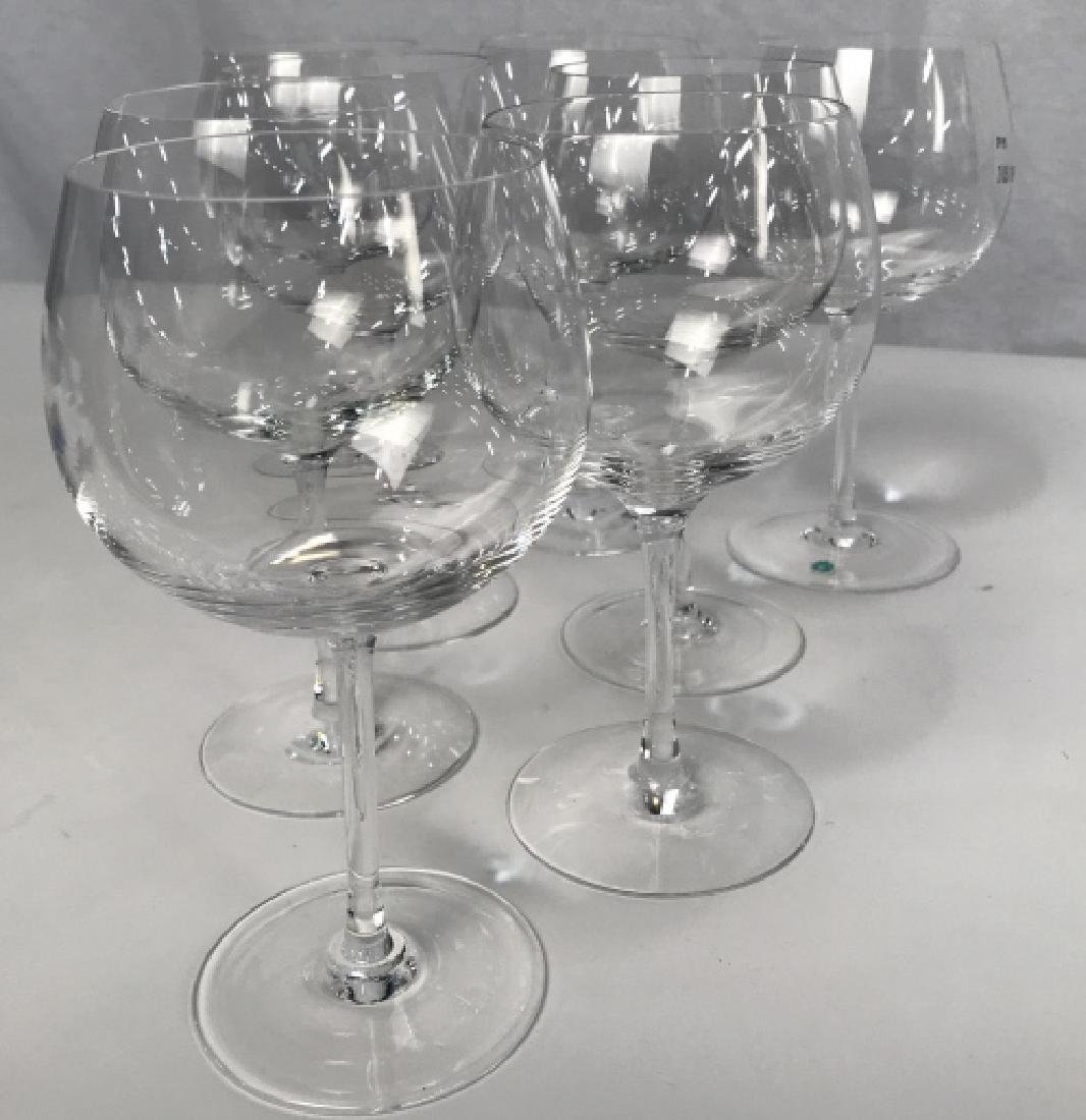 Tiffany Crystal Red Wine 8 Glasses, signed - 4