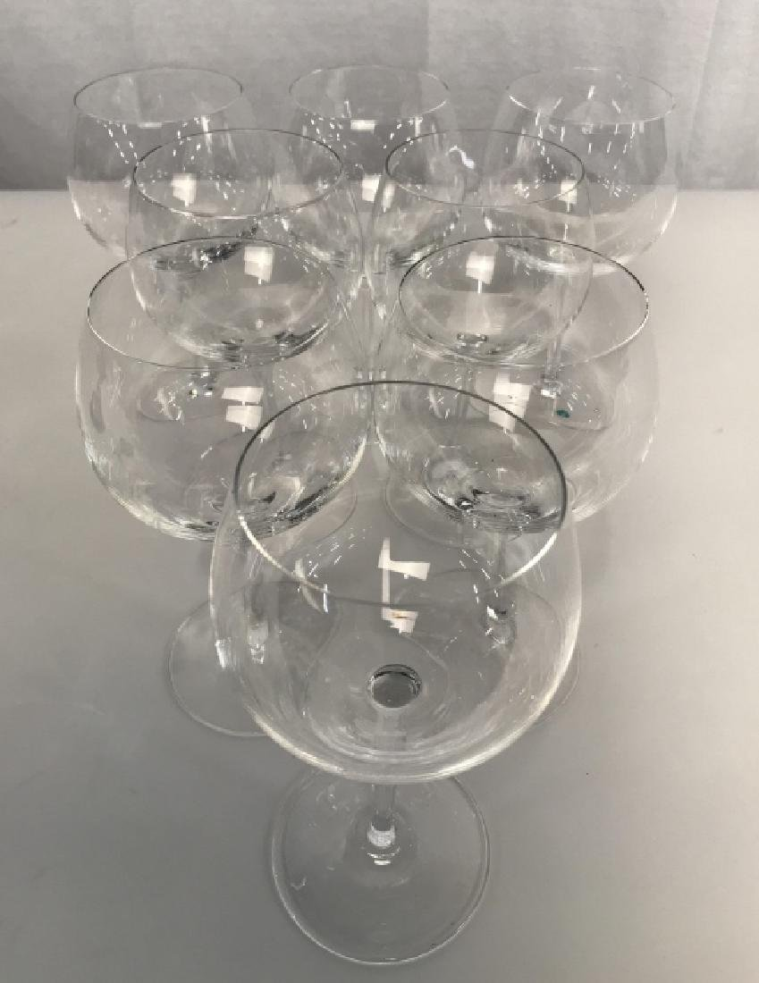 Tiffany Crystal Red Wine 8 Glasses, signed - 5