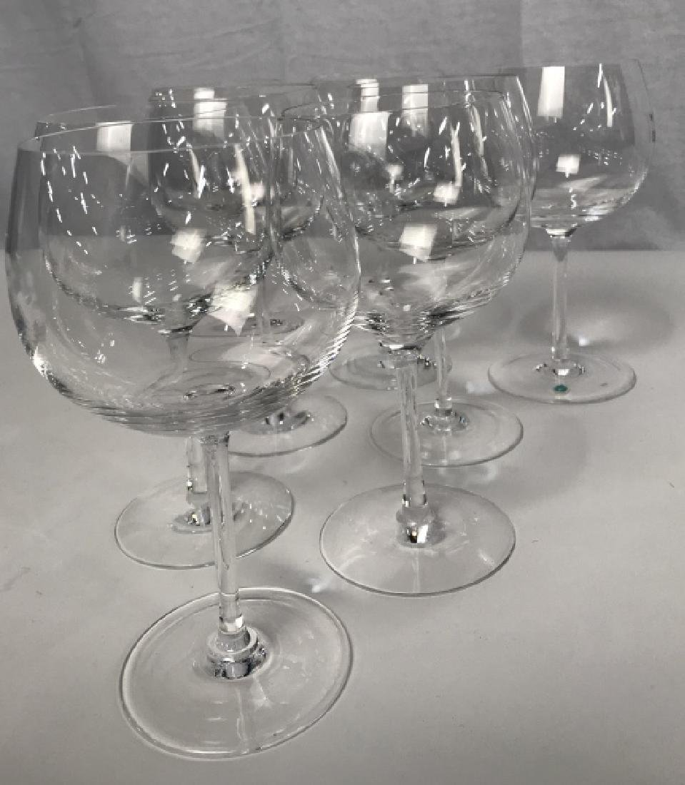 Tiffany Crystal Red Wine 8 Glasses, signed - 6