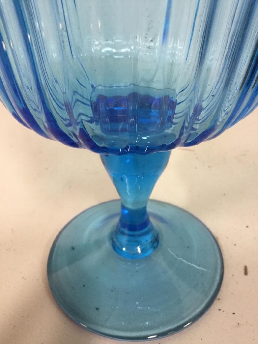 Art Glass Pedestal Vase - 2