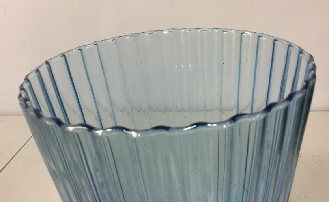 Art Glass Pedestal Vase - 8