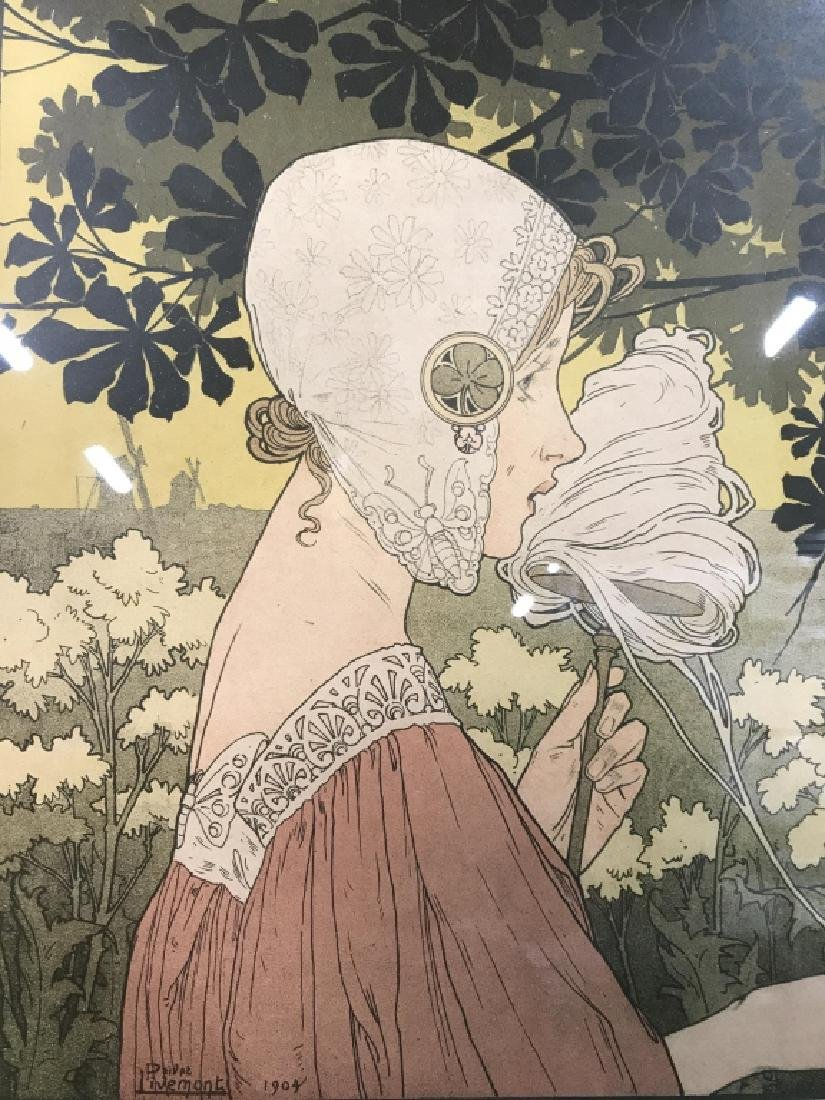 Henri Privat-Livemont Print Of Female Figure