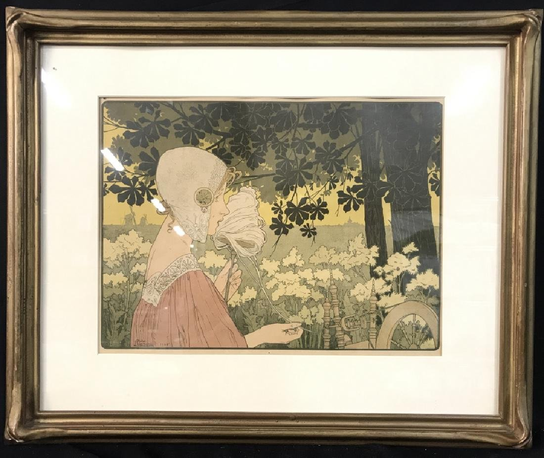 Henri Privat-Livemont Print Of Female Figure - 2