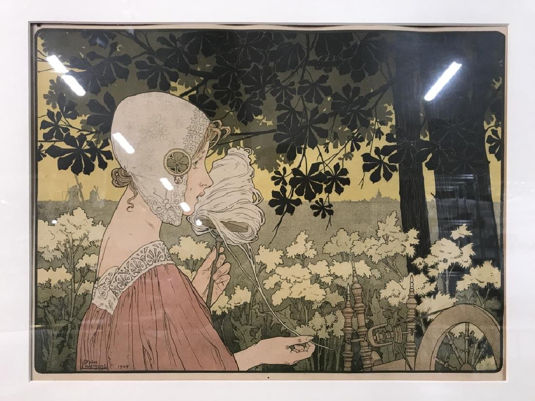 Henri Privat-Livemont Print Of Female Figure - 3