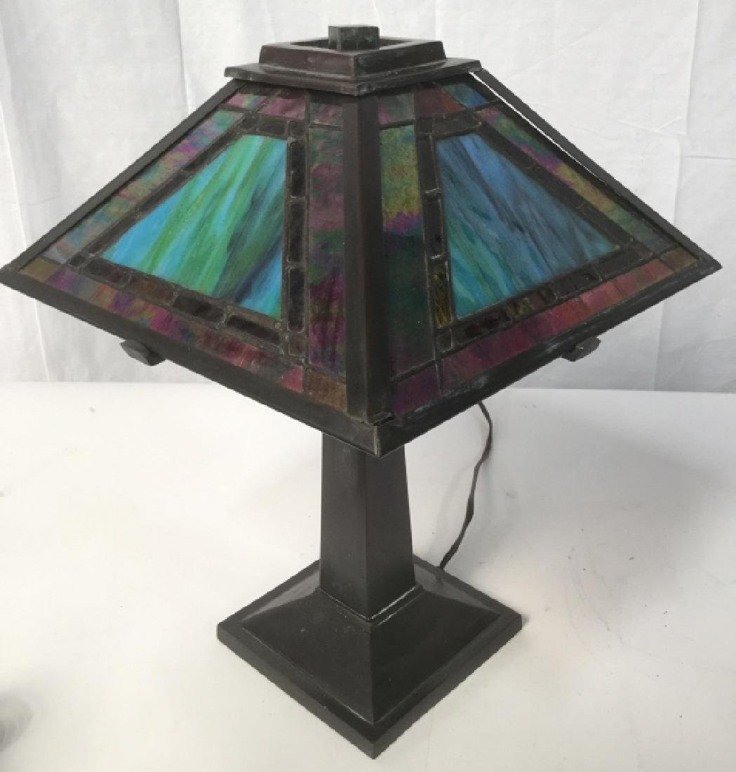 Tiffany Style Stained Glass Shade Lamp