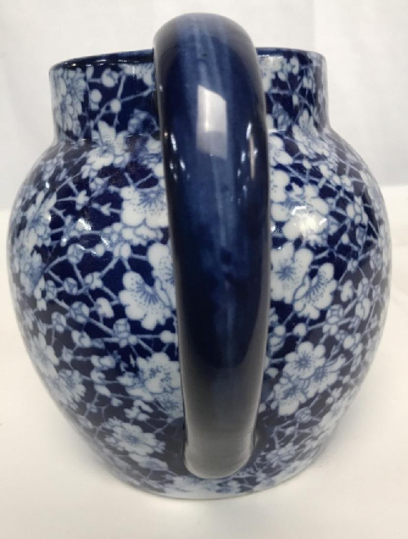 Blue and White Ironstone Pitcher - 2