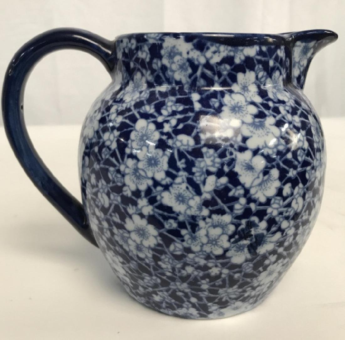 Blue and White Ironstone Pitcher - 3