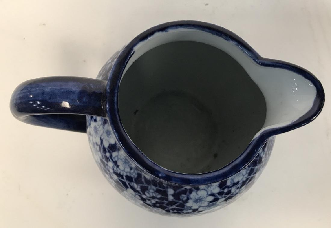 Blue and White Ironstone Pitcher - 4