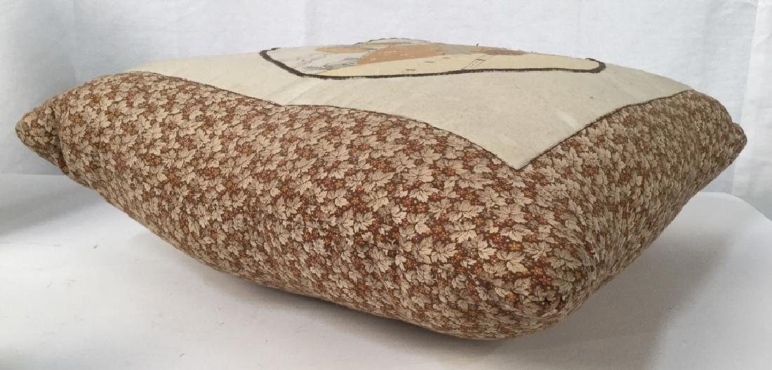 Fabric Collage Style Throw Pillow - 6