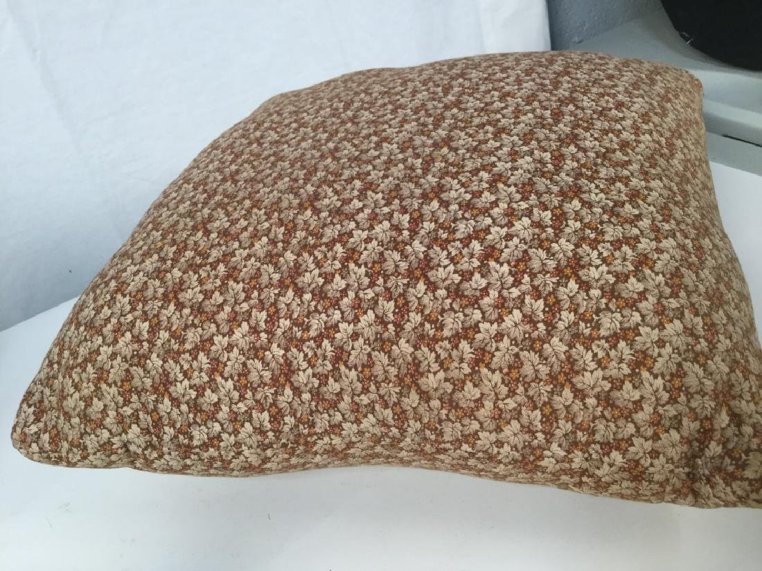Fabric Collage Style Throw Pillow - 7