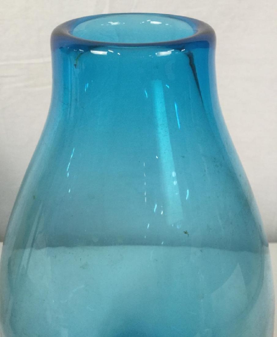 Light Blue Art Glass Vase - 3