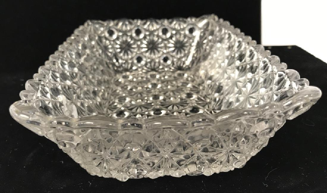 Vintage Pressed Glass Candy Dish - 3