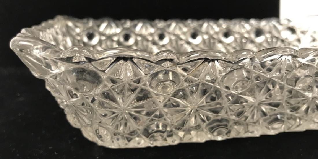 Vintage Pressed Glass Candy Dish - 6