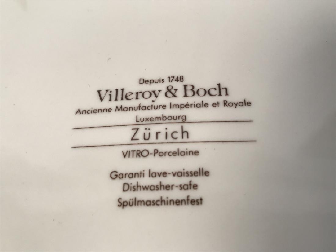 Set of 8 VILLEROY and BOCH Porcelain Dinner Plates - 5