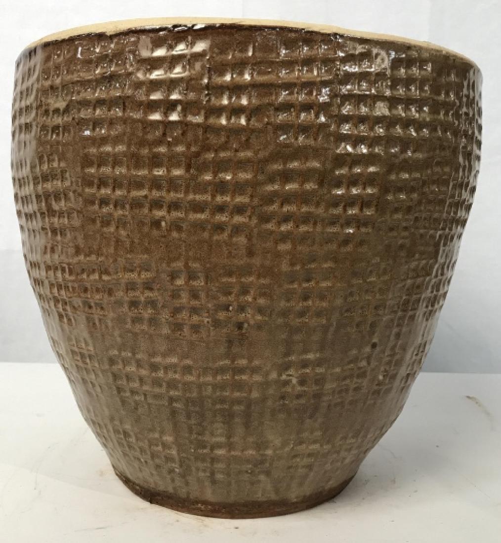Textured Ceramic Tan Toned Planter