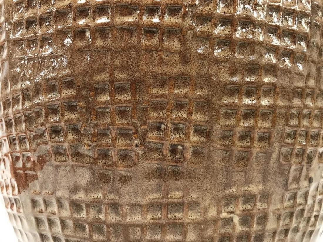Textured Ceramic Tan Toned Planter - 5