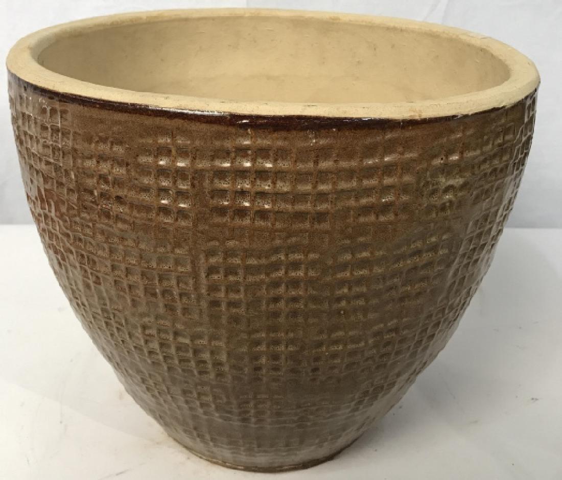 Textured Ceramic Tan Toned Planter - 6