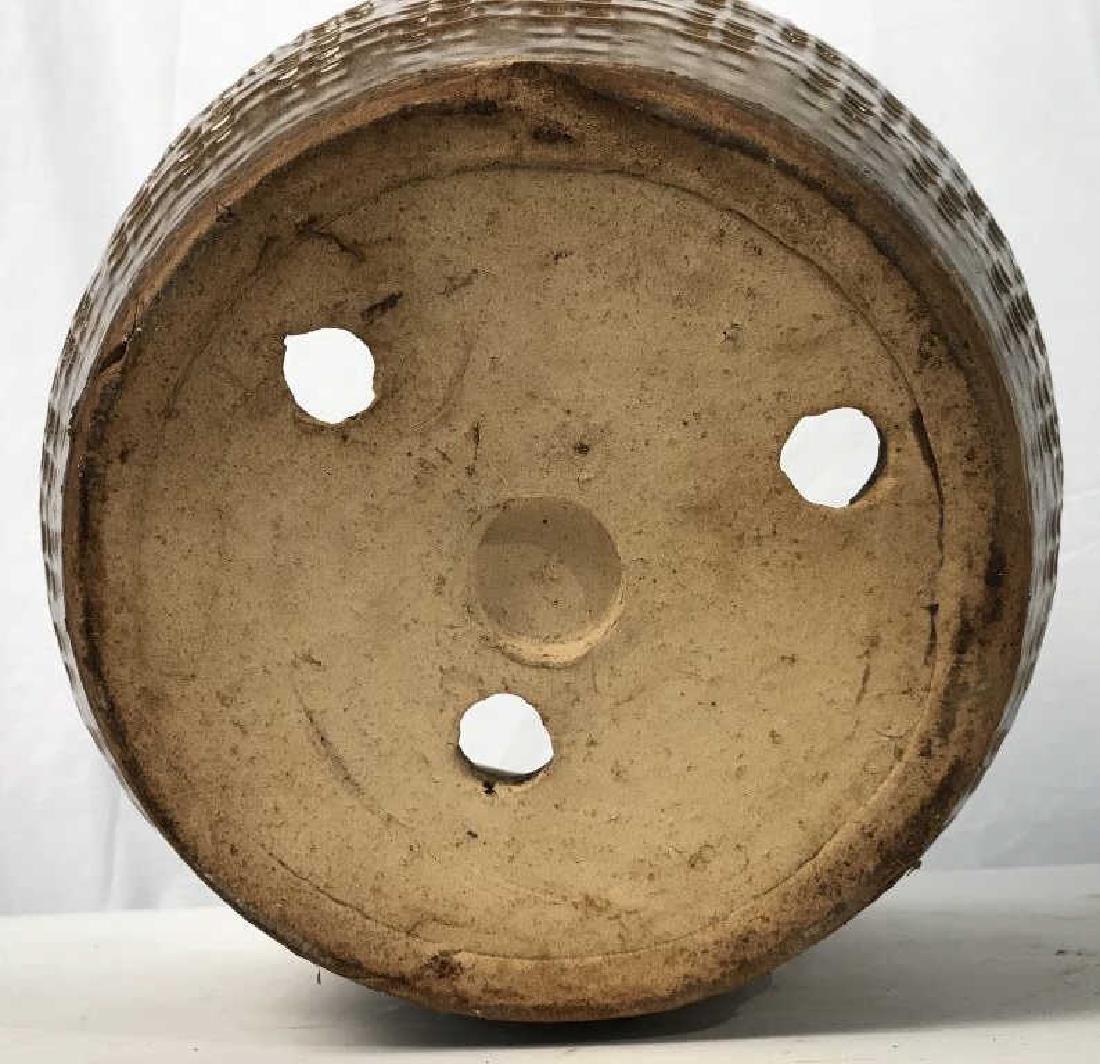 Textured Ceramic Tan Toned Planter - 8