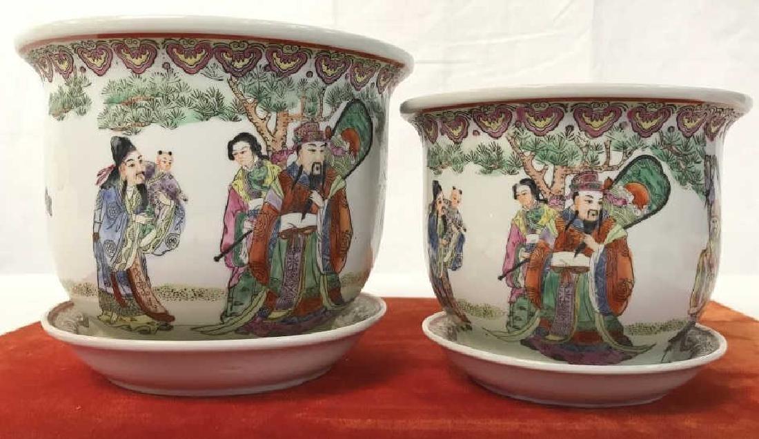 Pair of Oriental Style Planters