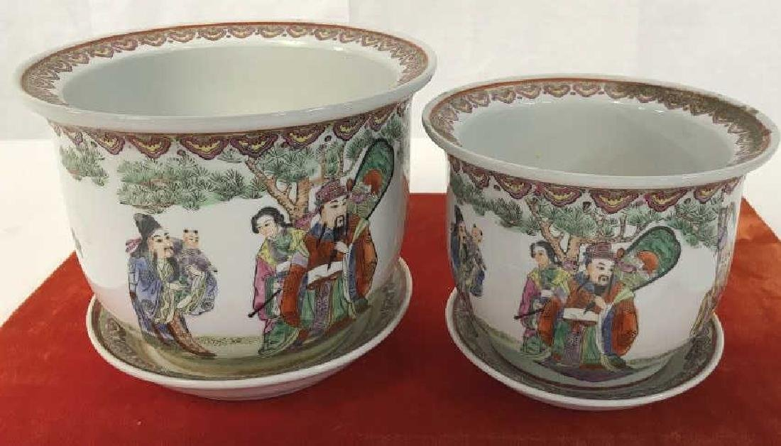 Pair of Oriental Style Planters - 2